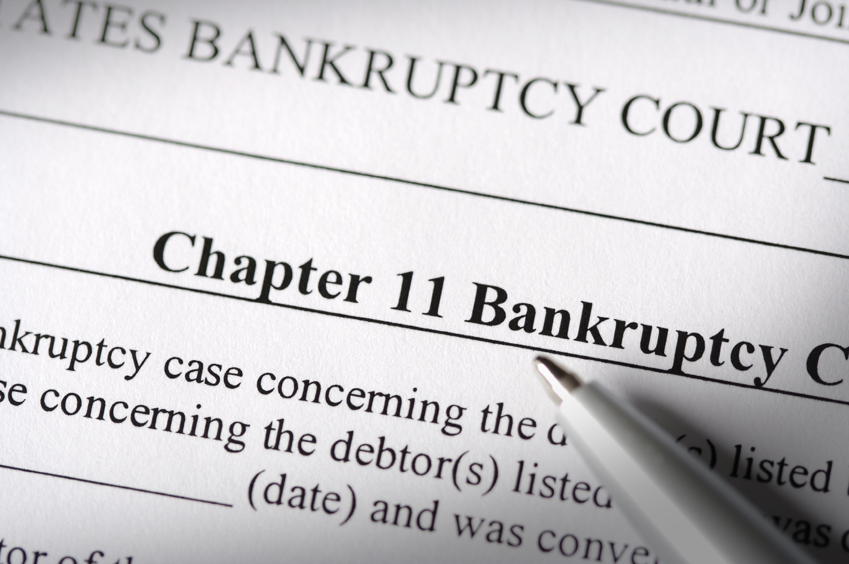 the legal technicalities of bankruptcy under chapter 11 Background a case filed under chapter 11 of the united states bankruptcy  ( the official forms are not available from the court, but may be purchased at legal .